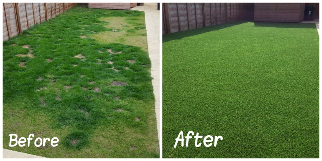 Artificial Grass Before/After
