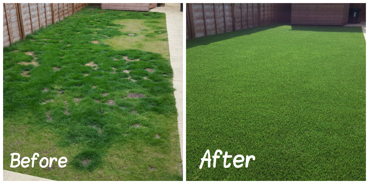 Artificial Grass Transformation 1