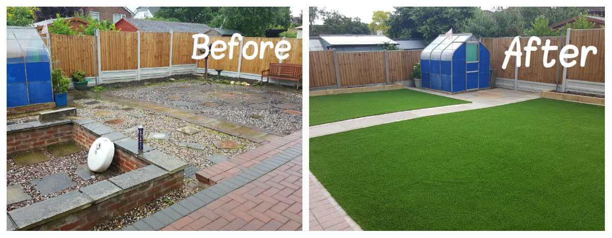 Artificial Grass Transformation 4