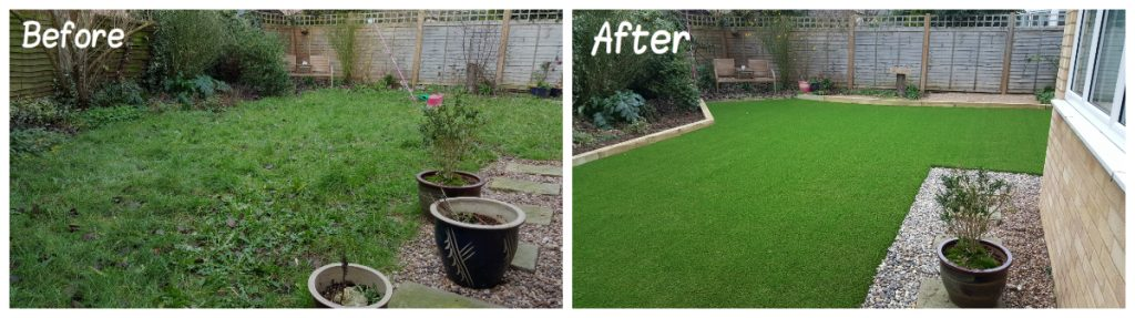 Artificial Grass Transformation 7