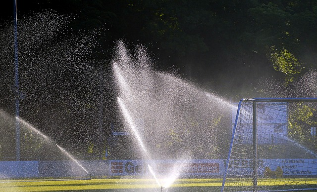 football pitch sprinkler system