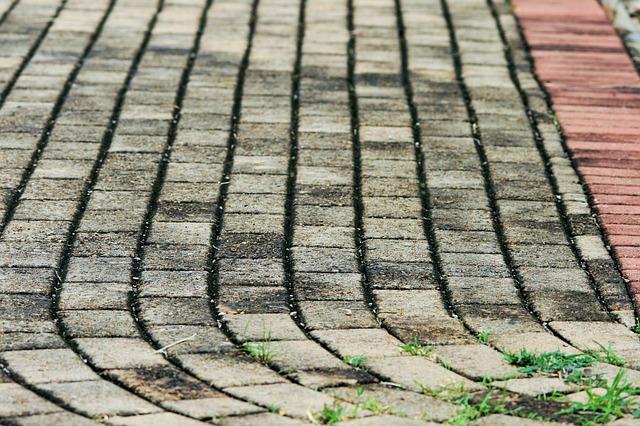 weeds on block paving