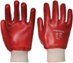 protective safety gloves for applying artificial grass adhesive