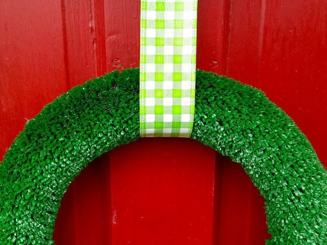 artificial grass christmas wreath