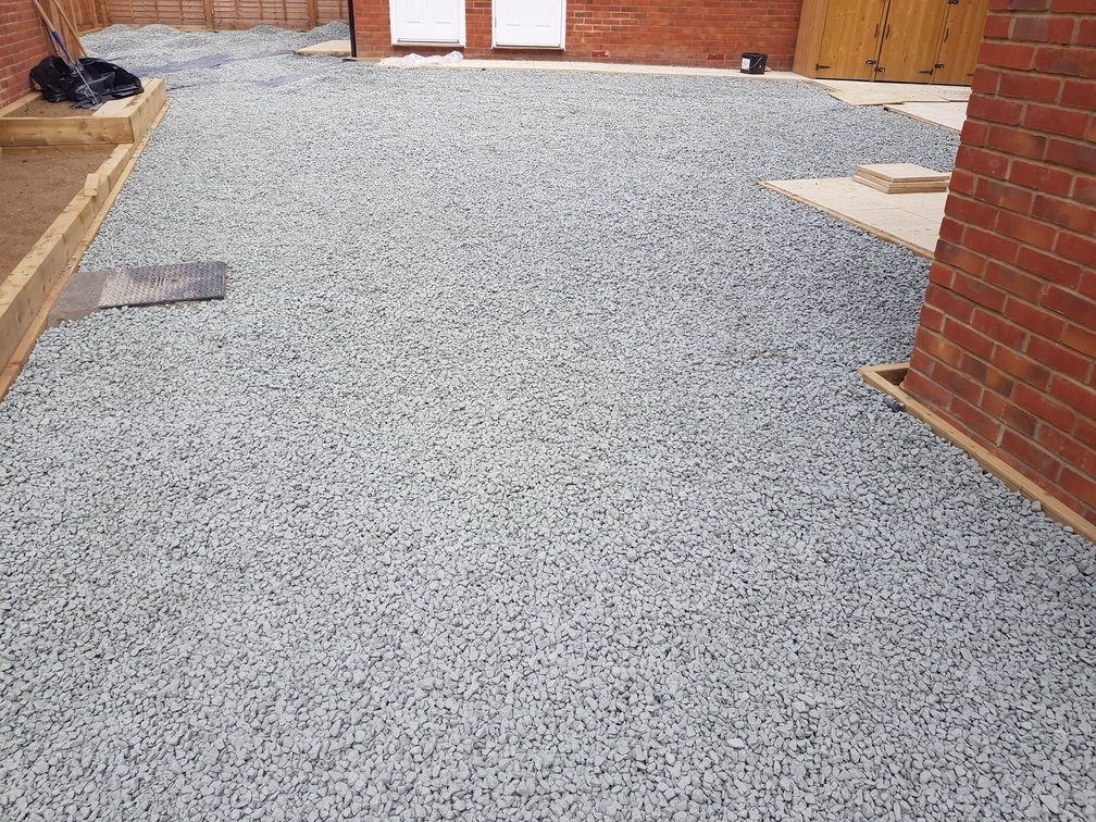 compacted granite chipping sub-base