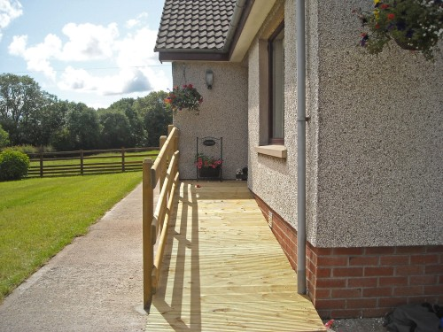 garden ramp for wheelchair access