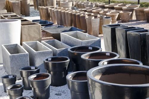 contemporary garden pot