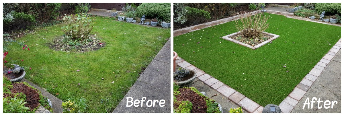 Middlesex Artificial Lawn Before & After