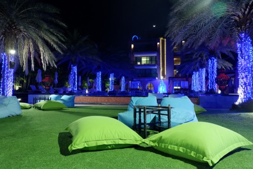 artificial grass for a hotel