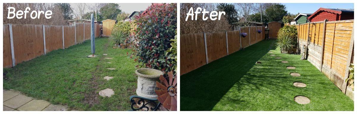 cambridgeshire artificial lawn transformation