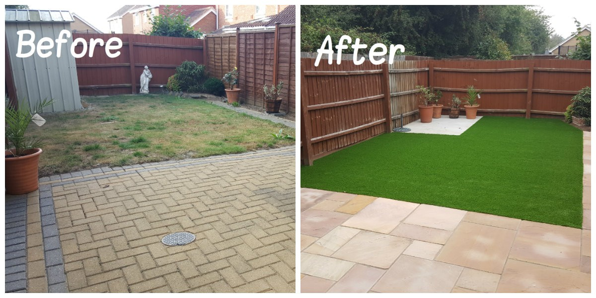 cheshire artificial lawn transformation