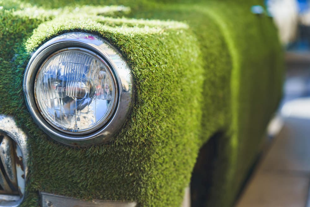 artificial grass car