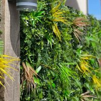 Yellow Oasis Artificial Green Living Wall close up