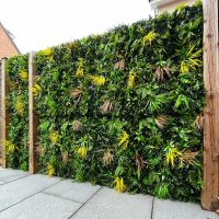 Yellow Oasis Artificial Green Living Wall outdoor garden