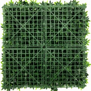 artificial ivy green living wall detail 3