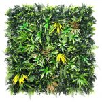 artificial yellow meadow green living wall