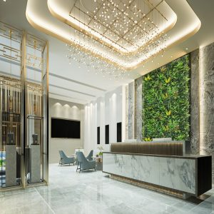 neograss yellow meadow living wall interior