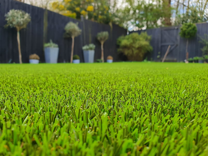 artificial lawn in garden